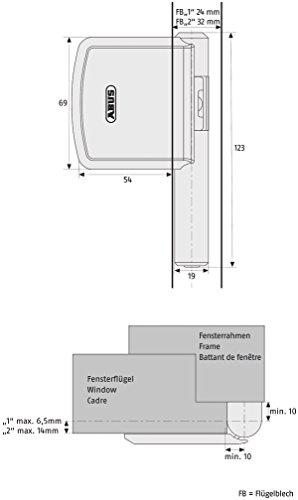 ABUS Scharnierseiten-Sicherung FAS101, weiß, 24490 - 3