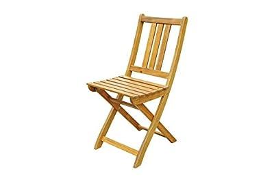 XXS® Akazie-Holz Garten-Stuhl, FSC® 100% zertifiziert, Klappstuhl für Balkon Garten Terrasse, Holz-Stuhl zusammenklappbar, gut zu verstauen im Winter [521395]