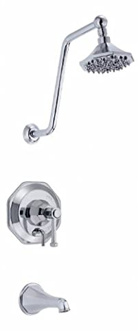 Danze D503068T Brandywood Tub and Shower Trim Kit, Chrome, Valve Not Included by Danze