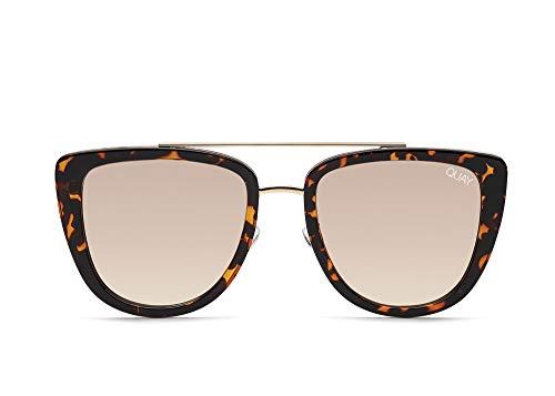 Quay Australia French Kiss Womens Sunglasses One Size Tortoise Gold
