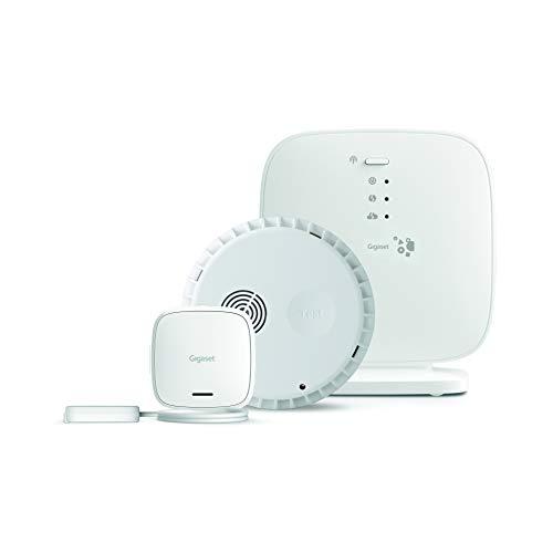 Gigaset Alarm-Set aus Rauchmelder und Wassermelder - mit App-Steuerung - Alarm-Nachricht aufs Handy - Rauchsensor und Wassersensor zur Vermeidung von Elementarschäden