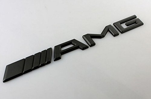 Fireman's 20x2.1 cm For Mercedes AMG Emblem AMG Boot Badge for Mercedes Benz C CL CLS CLK S SLK SLS E M G GL GLK Class 3D AMG Bonnet Badge (Sliver) -