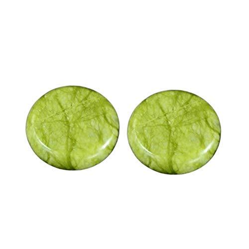 Hot Stones - Professionelle große Massagesteine Guasha-Werkzeug natürliche grüne Jade Hot Cold Stone für Spa, Massagetherapie (9,15 x 8,4 cm)