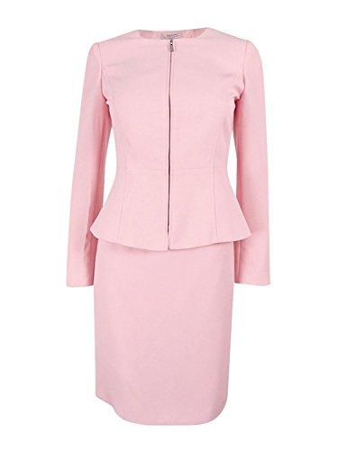 Tahari ASL Womens Petites Crepe Peplum Skirt Suit