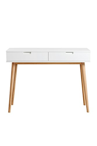 My-Furniture - Coiffeuse/Console Tretton en chêne Massif, Design scandinave rétro