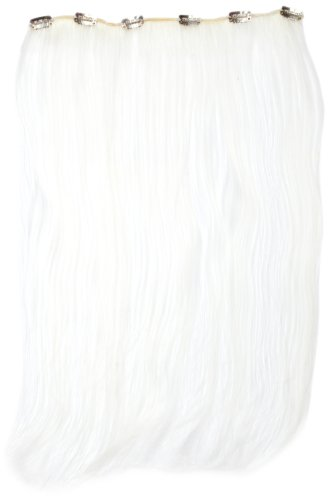 Love Hair Extensions Clip-In Haarverlängerung Silky Straight Thermofaser, 45cm, White