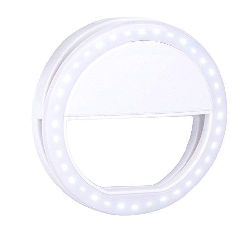 ingleuchte Selfie Licht Für Handy Beleuchtung Kamera Led Ring Light Lampe Strahler Flash Licht Foto Video Weiß ()
