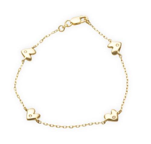 Miore Bracciale per Bambini, Oro Giallo 18k (750), Diamante G