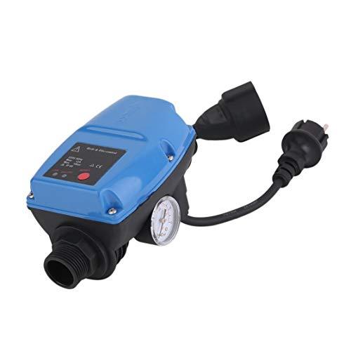 LouiseEvel215 Regulador de presión de la Bomba de agua SKD-5MIT Presostato automático electrónico Con manómetro Enchufe de la UE