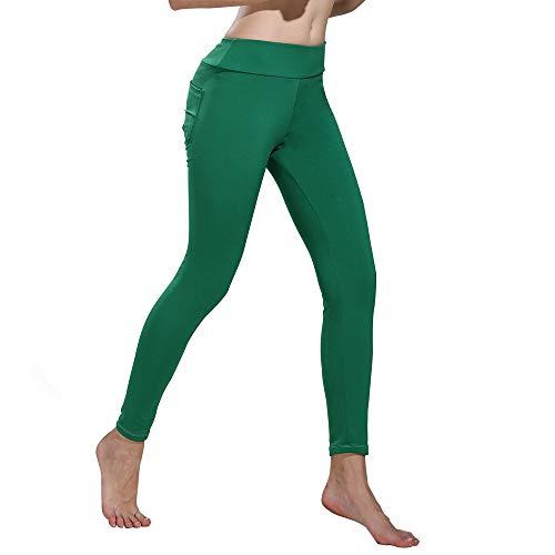 OHQ Mallas Mujeres Solid Leggings Sports Gym Yoga