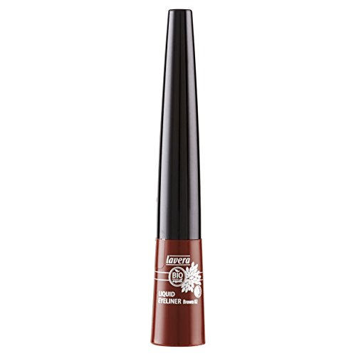 lavera Liquid Eyeliner Brown braun ∙ Kajal flüssig Liner ∙ Präziser Lidstrich ∙ Natural & innovative Make up ✔ vegan ∙ Bio Pflanzenwirkstoffe ∙ Naturkosmetik 1er Pack (1 x 4 ml)