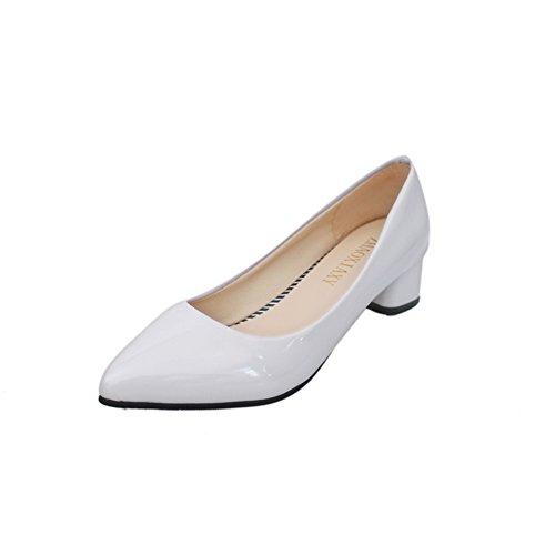 Doux printemps Lady chaussures de mode/Asakuchi épais talon/chaussures occasionnelles pointus D