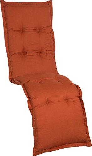 Gartenstuhlauflage Sitzkissen Polster Stuhlkissen für Relaxstuhl in Terra Premium Bezug aus 100%...