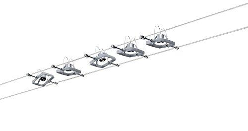 Paulmann 941.33 Seilsystem Mac2 Set erweiterbar max5x10W Chrom matt 94133 Seilleuchte Hängeleuchte