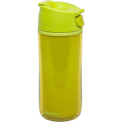 Aladdin 31943 Flip und Sip Bouteille Isotherme double paroi en plastique Vert citron 350 ml