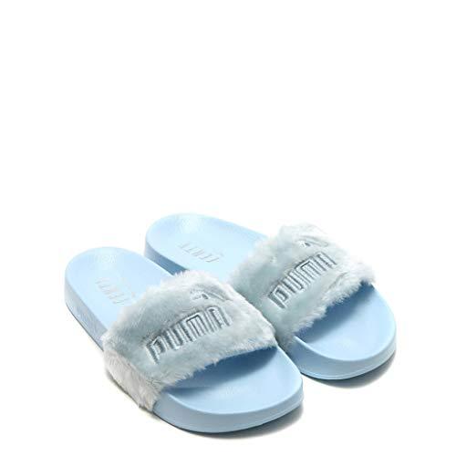 c8477c8a83 Puma x Fenty Rihanna Fur Slide Cool Blue 365772-03 EU 42