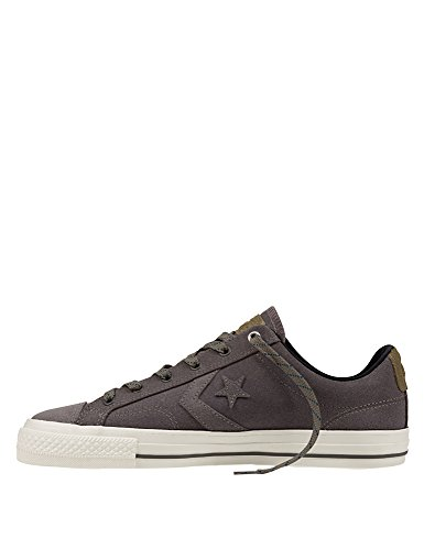 Converse Star Player Premium Leather Ox Herren Sneaker Grau charcoal/jute/grey