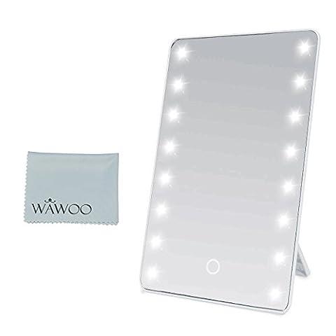 Wawoo® Make-up-Spiegel mit LED Beleuchtung Dimmbar durch Touch-Schalter + 16