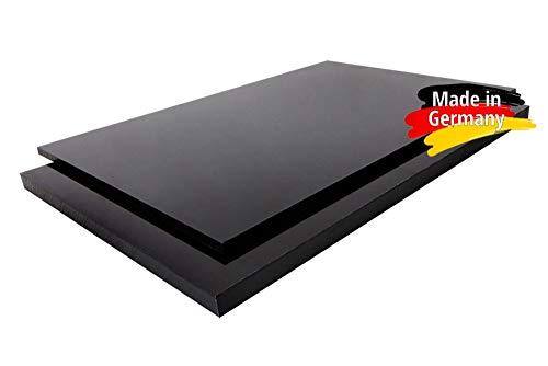 PE-HD Platte Zuschnitte | SCHWARZ | 2-15mm | VERSCHIEDENE FORMATE | Top Qualität (5mm, 100 x 49cm) - Platte