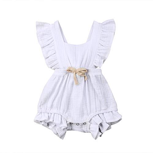 WANGSAURA 0-24 Monat Kleinkind Baby Mädchen Junge Outfits Einfarbig Strampler Ärmellos Spielanzug Baby Toddler Baby Neugeborenes Kinderkleidung