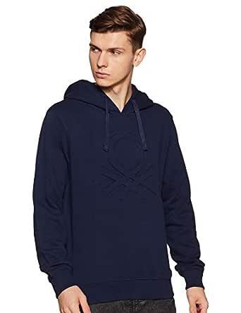 United Colors of Benetton Men's Sweatshirt (18A3089J3202I_13C_EL_Black Iris(Navy Blue))
