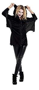 Folat 63409 - Vestido de murciélago para mujer (talla L-XL), color negro