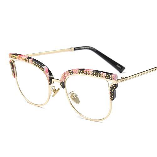 QQQ Ladies Cool Brillen Square Frame Clear Lens Brillen Frauen DIY (Farbe : C) (Square Frame Brille Kostüm)