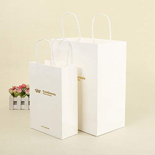 LIUQIAN Exquisite Hand Tasche allgemeine weiße Packpapierbeutel Verpackung Einkaufstasche Geschenkset von a. A/Stücke (Größe)