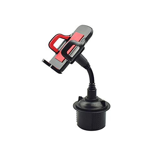SSZZ 360 Grad-umdrehung Justierbarer Automobil-becherhalter-Telefon-Berg, Universalhandynavigations-Klammer Kompatibel Mit Samsung iPhone Und Mehr,Red Motorola Base