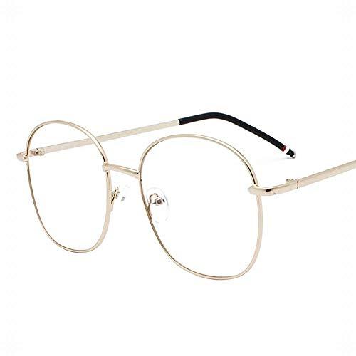 WULE-RYP Polarisierte Sonnenbrille mit UV-Schutz Mens Retro Runde Sonnenbrille Metall Myopie Brillengestell Unisex. Superleichtes Rahmen-Fischen, das Golf fährt (Farbe : Gold)