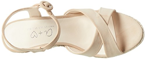 Another Pair of Shoes Werinae1, Sandali con Zeppa Donna Beige (Sand782)