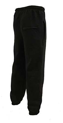 Herren Trainingshose Pants Fleece Hose Casual S-6XL 4 Farben Schwarz - Dunkelgrau