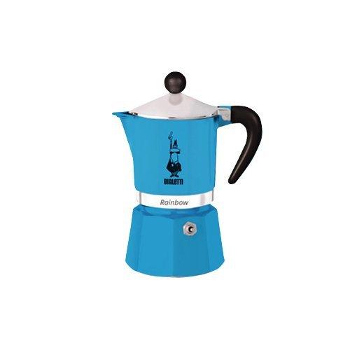 Bialetti 5242Rainbow Cafetera Espresso para 3tazas, aluminio/plástico azul 30x 20x 15cm