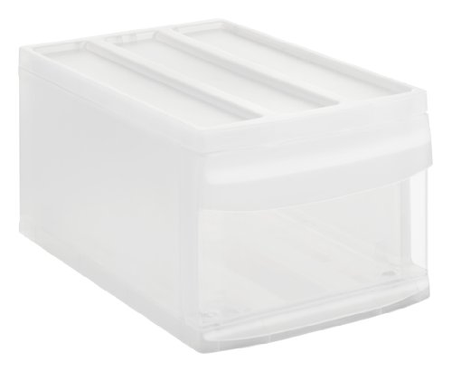 Rotho Systemix Schubladenbox 1 Schublade, Kunststoff (PP), transparent, Gr. M (39,5 x 25,5 x 20,3 cm)