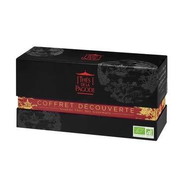 """Coffret thé bio """"Chine impériale"""" par Thés de La pagode?Coffret découverte 6 thés bio - Boîte 30 infusettes (6 x 5 sachets)?Thés gourmets bio"""