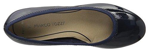 Marco Tozzi Ladies 22200 Platform Shoes Blue (navy Patent 826)