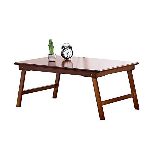 Household applia Bett klappbarer Computer Schreibtisch Bambus Holz Qualität, Massivholz Lazy Table, Tragbarer Laptop-Schreibtischständer, Faltbare Lesetisch Frühstückstisch