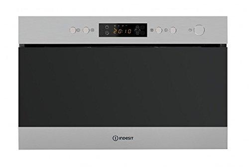 Indesit MWI 6213IX integrierter Mikrowelle kombiniert 22L 750W Edelstahl–Mikrowelle (integriert, Mikrowelle kombiniert, 22l, 750W, Knöpfe, Edelstahl)