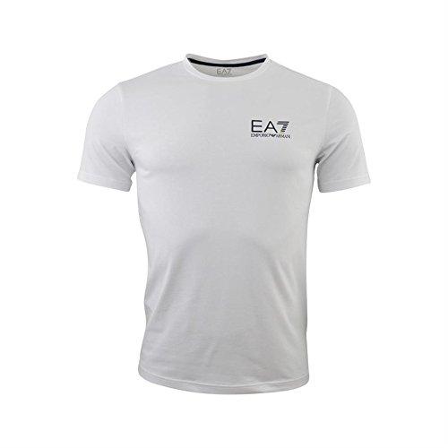 Emporio Armani EA7Men 's Short Sleeve T-Shirt Rundhalsausschnitt Jumper Rot, weiß, xs