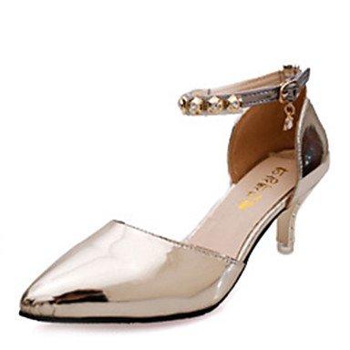 Moda Donna Sandali Sexy donna caduta tacchi tacchi in pelle di brevetto Party & Sera Stiletto Heel scintillanti Glitter rosa / Grigio / Oro Altri gray