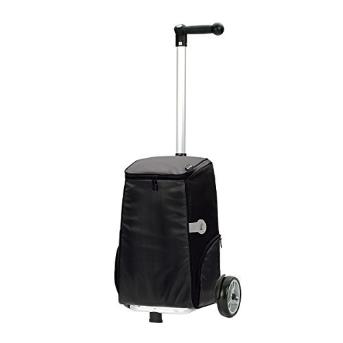 Shopping trolley Unus Haron black , volume 40L, 3 years guarantee, Made in Germany by Andersen Shopper Manufaktur