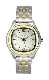 DKNY NY8828 LADIES MULTICOLOR TWO TONE STAINLESS STEEL 35MM DATE QUARTZ WATCH