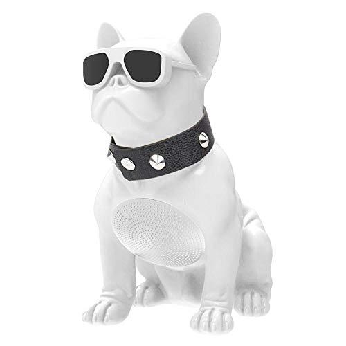 Goglor Bulldogge Lautsprecher Tragbar Stereo Drahtloser Lautsprecher Unterstützt TF Karte, AUX Eingang, FM Radio, HD Audio und verstärkter Bass, Kreativ Lautsprecher für Smartphone, Laptop, Desktop