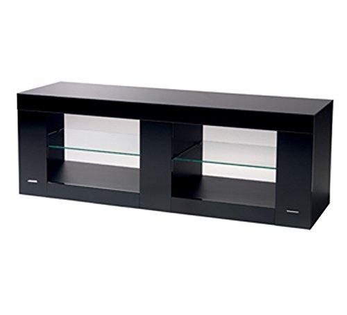 B-Tech btf803/B Design de Rack pour téléviseur à écran Plat avec Surface en Verre Charge jusqu'à 70 kg (Noir)
