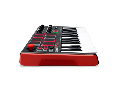AKAI Professional MPK Mini MKII | 25-Key Portable USB MIDI Keyboard With 8 Backlit Performance-ready Pads, 8-Assignable Q-Link Knobs & A 4-Way Thumbstick