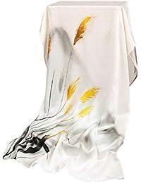 Hangzhou seda fina bufanda de seda salvaje de las mujeres bufanda larga protector solar chal toalla