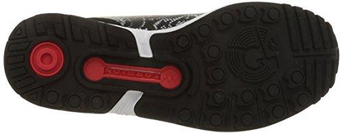adidas Zx Flux B35310, Baskets Basses Femme Noir (Core Black/Core Black/Tomato St)