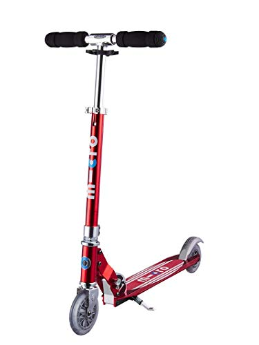 Micro Mobility - Trottinette Micro Sprite Rouge - Trottinette Enfant compacte et pliable - Apprentissage de l'équilibre - À partir de 6 ans