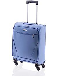 Maleta de Viaje de 4 Ruedas, Bersi de John Travel (Azul, S)