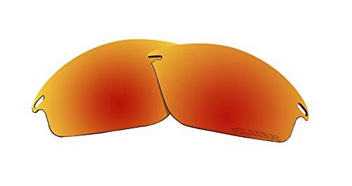 BVANQ polarisierte Ersatzgläser für Oakley Fast Jacket Sonnenbrille Fire Red Mirror Coatings